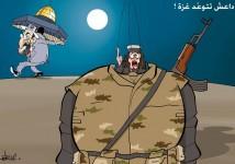 هاربون يتوعدون غزة