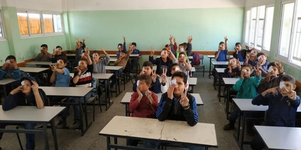 الكتلة الإسلامية بمدارس شمال غزة تتضامن مع الصحفى معاذ