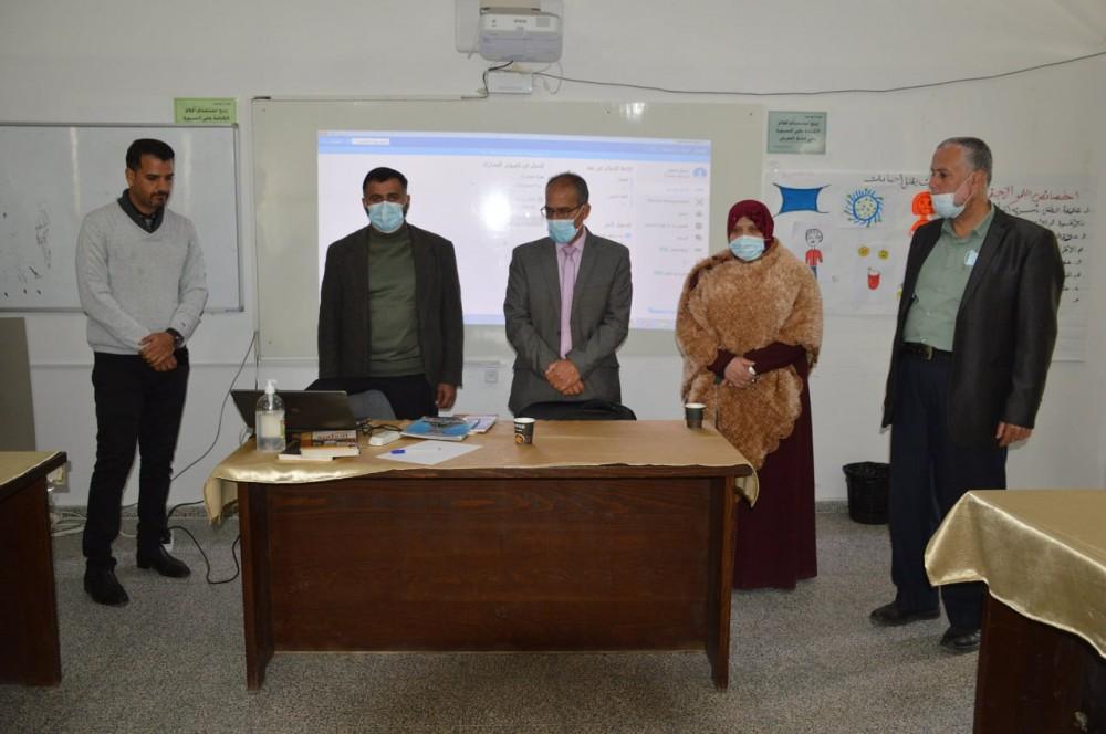 تعليم شرق خان يونس يتناقش تطبيق الاستعارة الذكية لأمناء المكتبات