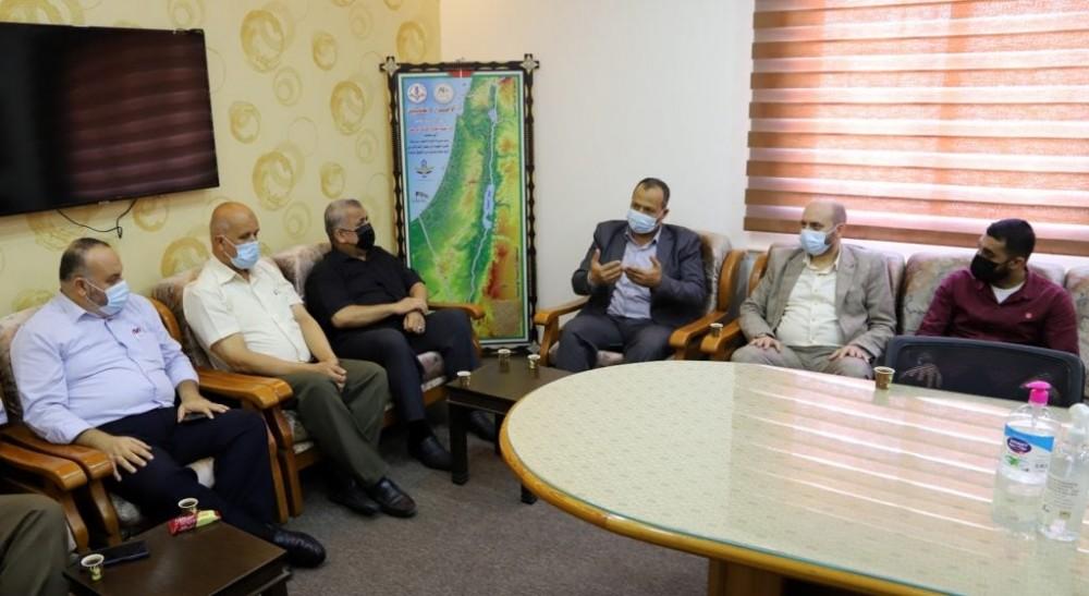تعليم غرب غزة يستقبل وفداً من الهيئة الإدارية لمنطقة جنوب غزة