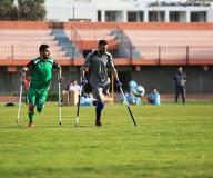 نهائي أول دوري لكرة القدم لمبتوري الأطراف على ملعب فلسطين بغزة