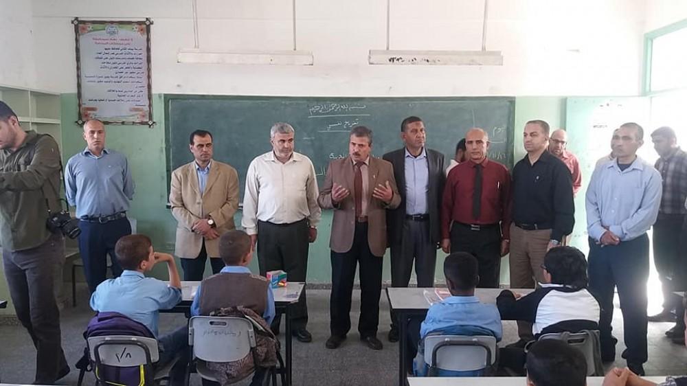 تعليم الوسطى يتفقد المدارس الحدودية بعد العدوان على غزة