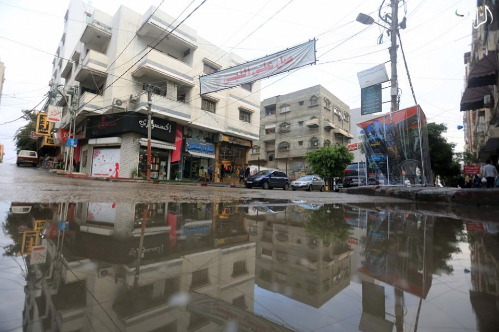غزة خلال المنخفض