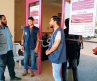 بدأت اليوم عناصر أمن مستشفى شهداء الاقصى بالانتشار لضبط الأمن بالمستشفى