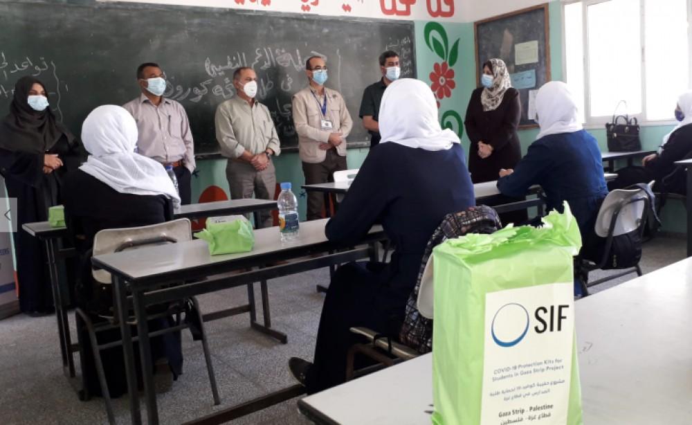 توزيع 7 آلاف طرد صحي على الطلبة والعاملين بمدارس الثانوية بالشمال