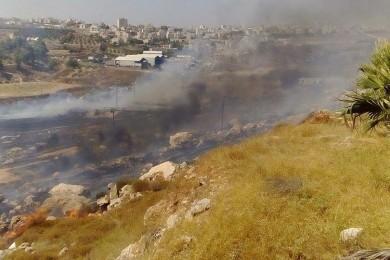 الاحتلال يخلي مستوطنة بالقدس بسبب حريق ضخم