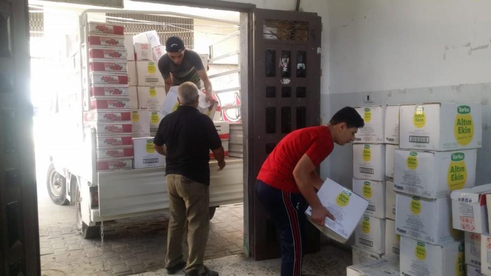 جمعية أرض الإسراء: توزيع  300 طرد غذائي لأسر فقيرة في الشجاعية