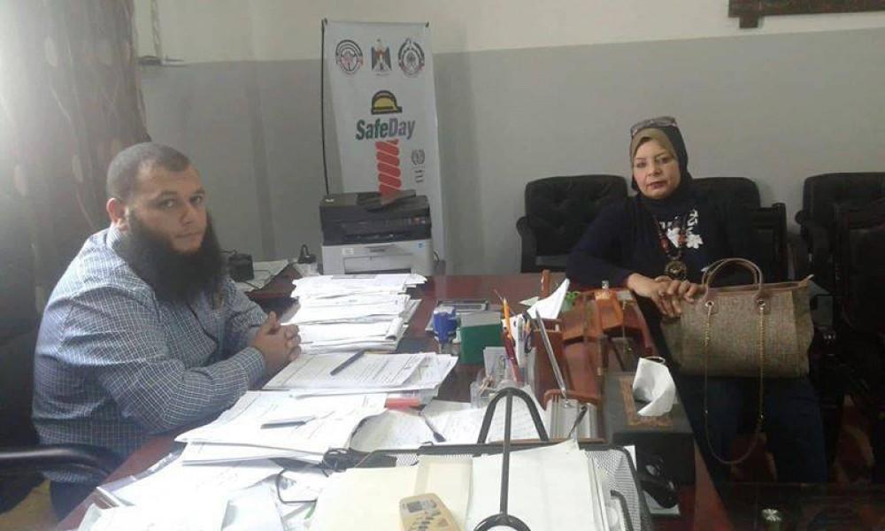 وزارة العمل وكلية تدريب غزة تناقشان تعزيز السلامة والصحة المهنية