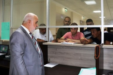 المستشار عابد  يتفقد سير العمل في قصر العدل