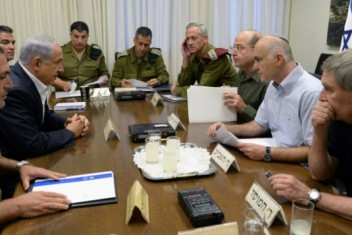 """""""الكابينت"""" يعقد جلسة لبحث التصعيد مع غزة"""
