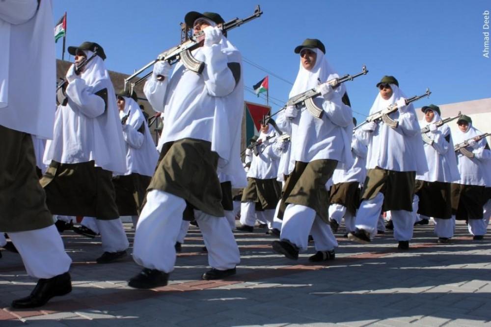 نساء ضمن قوات الأمن في قطاع غزة