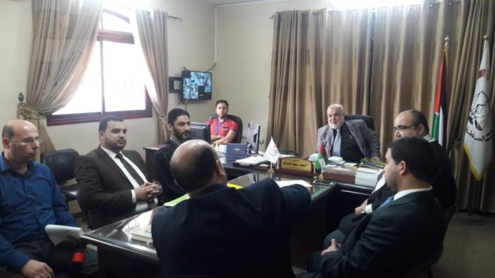 المستشار عابد يتفقد سير العمل في محكمتي صلح وبداية شمال غزة