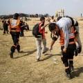 إصابة متظاهرين شرقي غزة