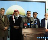مؤتمر صحفي للحديث حول إزالة التعديات على شاطئ بحر غزة – تصوير/ مدحت حجاج