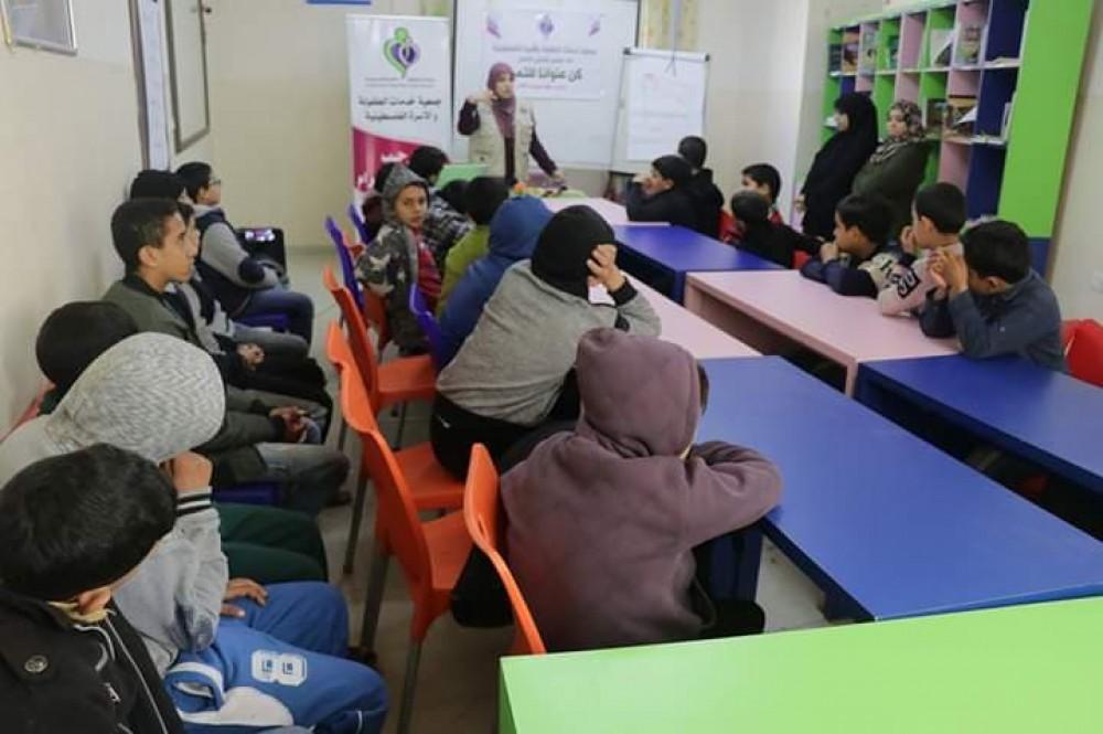 خدمات الطفولة تفتتح مخيم