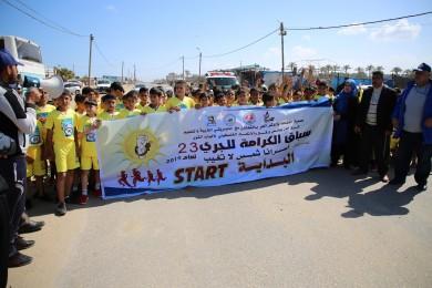 ماراثون في خانيونس تضامناً مع الأسرى الفلسطينيين