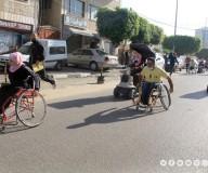وزارة التنمية الإجتماعية تنظم سباق ماراثون بمدينة غزة ضمن فعاليات اليوم العالمي للأشخاص ذوي الإعاقة/تصوير: مدحت حجاج