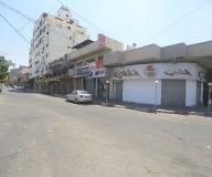 إضراب في غزة رفضاً لورشة البحرين - تصوير/ رشاد الترك