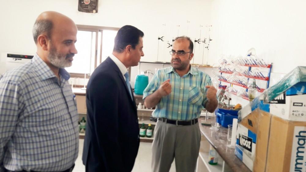رشدي وادي  يجري جولة تفقدية لدوائر وادارات وزارة الاقتصاد
