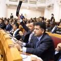 الغانم خلال مؤتمر الاتحاد البرلماني الدولي