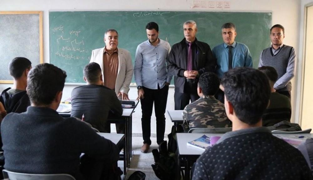 تعليم خان يونس يتفقد سير العملية التعليمية بعد العدوان