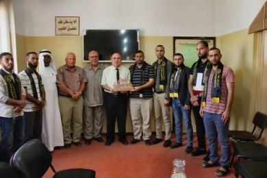 """تعليم شمال غزة يستقبل وفداً من """"الرابطة الإسلامية"""""""