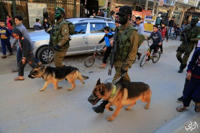 مسير عسكري لنخبة كتائب القسام بالنصيرات وسط غزة