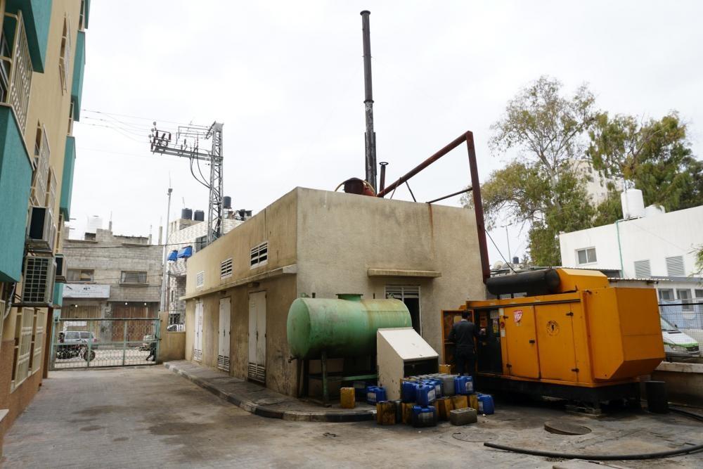 أحد المولدات الكهربائية في غزة