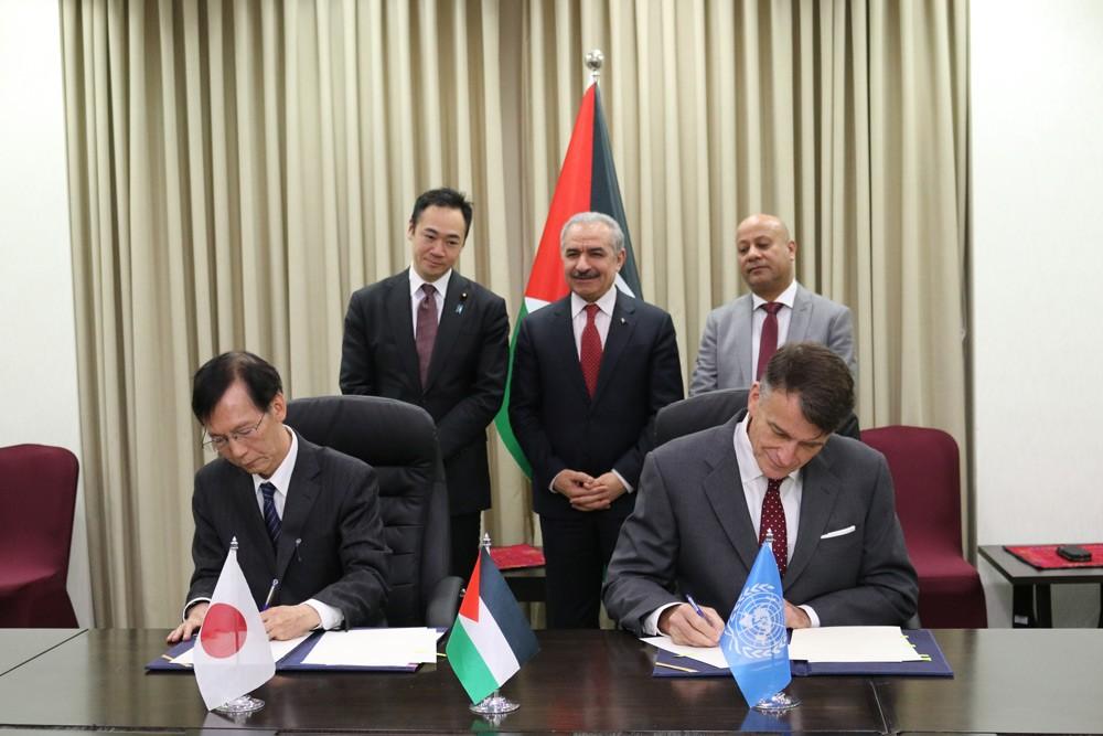 اليابان تتبرع بأكثر من 11 مليون دولار  لدعم اللاجئين الفلسطينيين