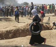 مواجهات مليونية العودة شرق غزة/ تصوير: عطية درويش