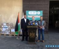وزارة الصحة بغزة تستقبل قافلة مساعدات طبية من مؤسسة رحمة حول العالم... تصوير   مدحت حجاج