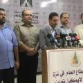 نقيب الموظفين يعقوب الغندور خلال مؤتمر صحفي