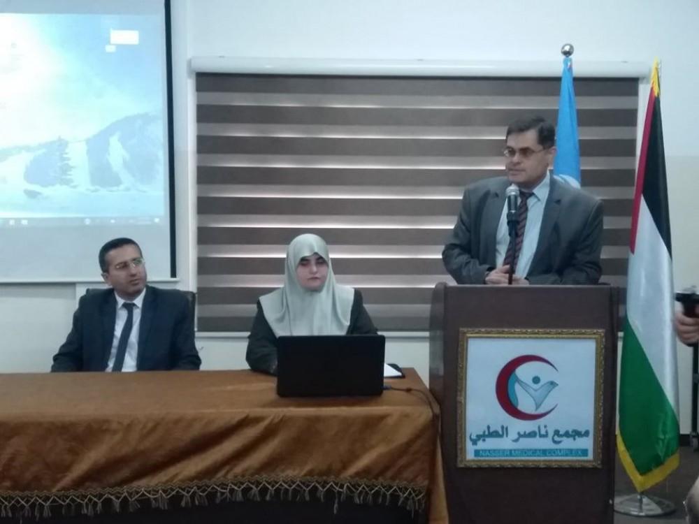 الصحة تطلع  ميلادينوف  على مشروع الطاقة الشمسية في مجمع ناصر الطبي