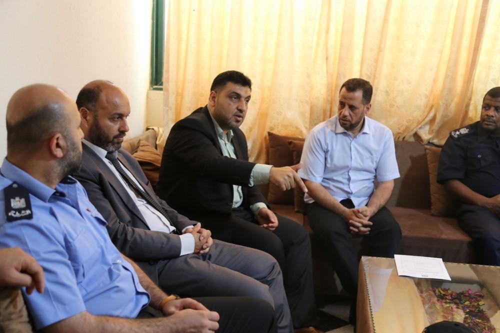 رئيسا نيابة غزة يناقشان  تعزيز سيادة القانون ومكافحة الجريمة