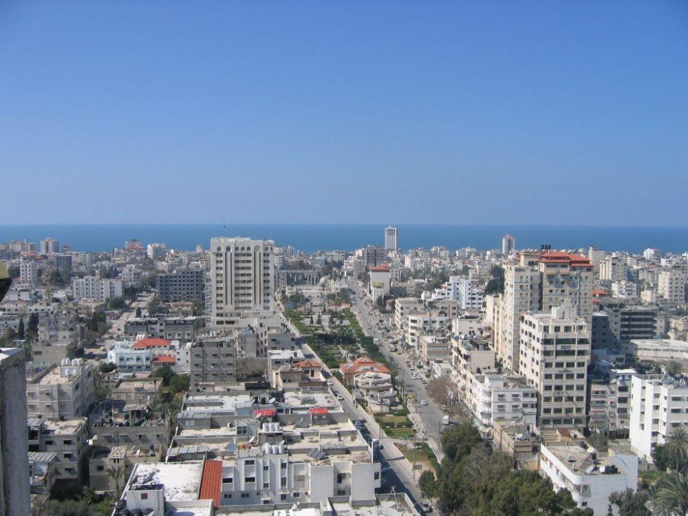 مشهد عام لمدينة غزة