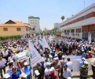 صور 2 | مسيرة لتجمع النقابات الفلسطينية تحت عنوان