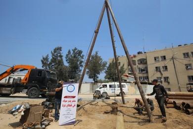 """""""قوافل الخير"""".. تفتتح """"بئر مياه"""" شمال قطاع غزة"""