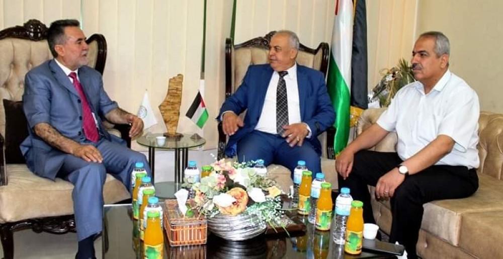 مدير تعليم رفح  يعزز التعاون المشترك مع جامعة فلسطين