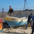 سلطة الموانئ البحرية تنظم أماكن حسكات الصيد داخل ميناء غزة
