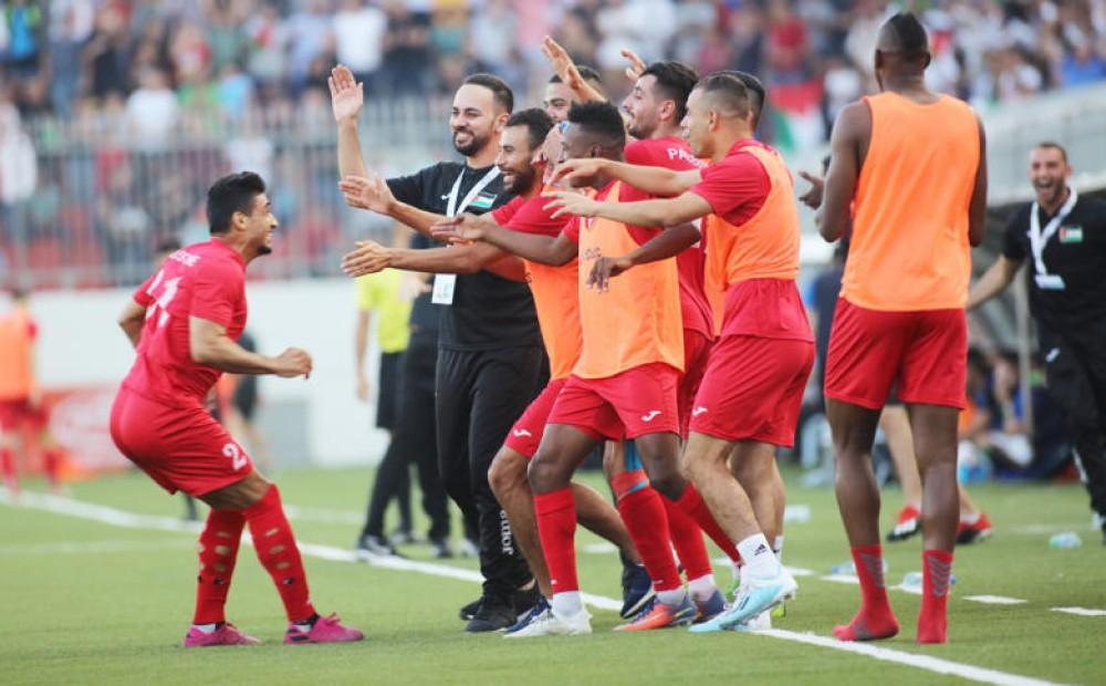 منتخب فلسطين بكرة القدم حصد الفوز الابرز في الجولة الاولى