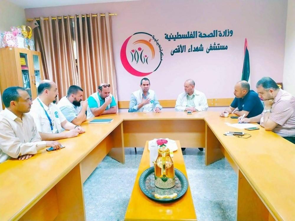 مستشفى شهداء الأقصى تبحث تحسين الخدمة الصحية