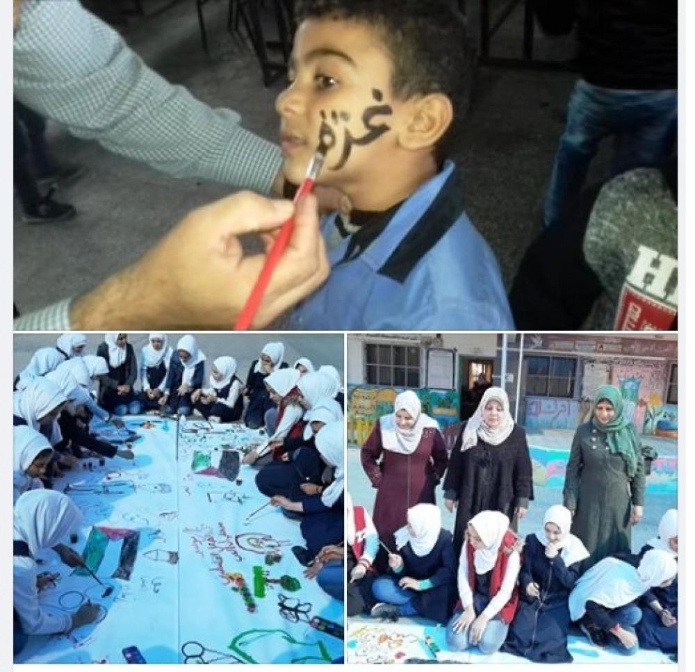 تعليم شرق غزة ينفذ أنشطة الدعم النفسي لطلابه بعد العدوان الإسرائيلي