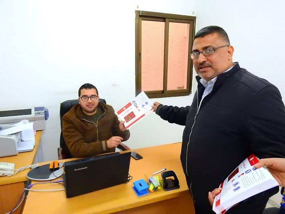 الخدمات الإدارية في وزارة المواصلات تواصل حملة التوعية والوقاية من  كورونا