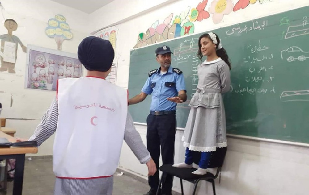شرطة مرور رفح تطلق حملتها التوعوية
