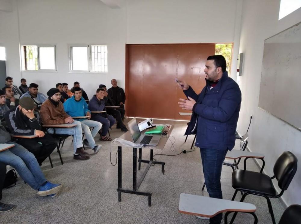 وزارة العمل تنفذ لقاءاً توعوياً لطلبة مركز تدريب مهني الشمال
