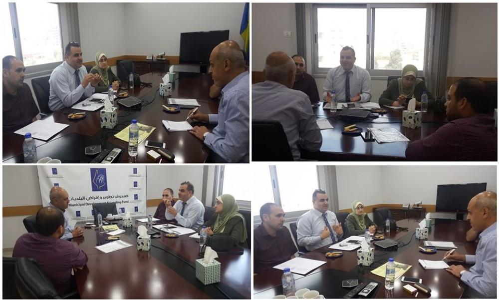 بلدية خان يونس تبحث مع صندوق الهيئات المحلية المشاريع التطويرية