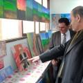 كلية مجتمع الأقصى للدراسات المتوسطة تفتتح معرضها الفني بعنوان
