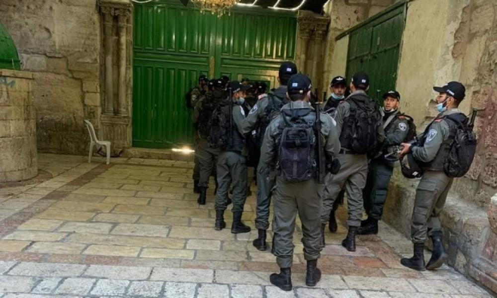 قوات الاحتلال عند باب الأسباط