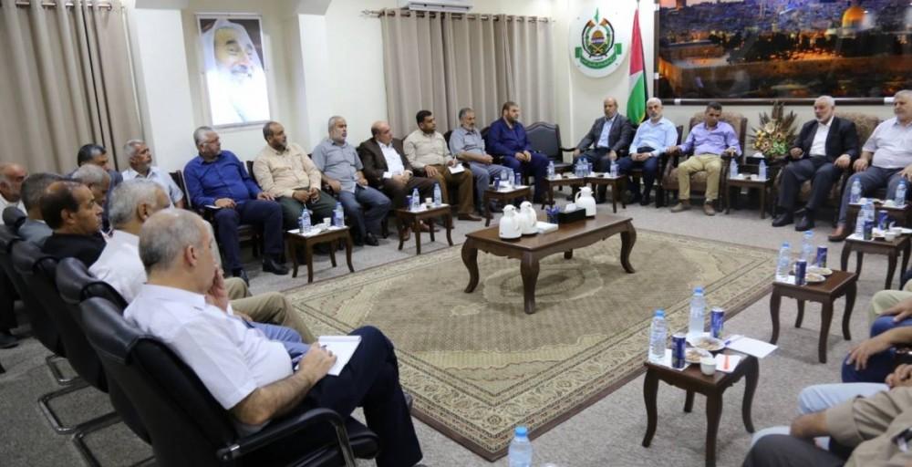 قيادة حماس تلتقي بالفصائل الفلسطينية والوفد المصري