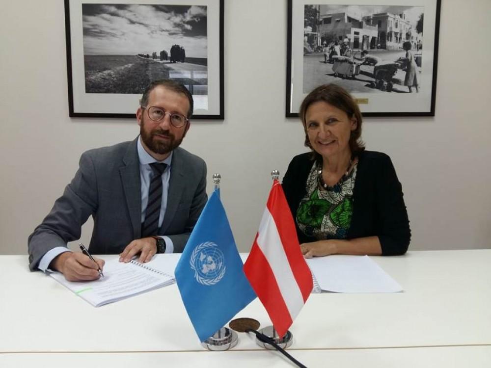 النمسا تتبرع بـ1,95 مليون يورو دعماً لخدمات الأونروا الصحية في فلسطين